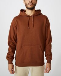 Cotton On Essential Fleece Pullover - Brown
