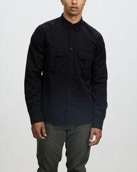 Neuw Workwear Twill Long Sleeve Shirt - Black