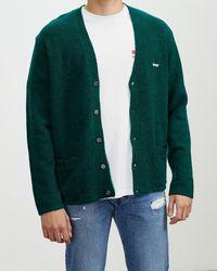 Stussy Italic Knit Cardigan - Green
