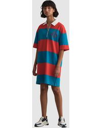GANT Zip Heavy Rugger Dress - Red