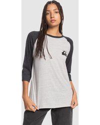 Quiksilver Raglan T Shirt - Grey