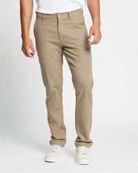Brixton Choice Chino Trousers - Natural