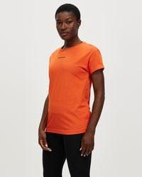 New Balance Relentless Crew T Shirt - Orange