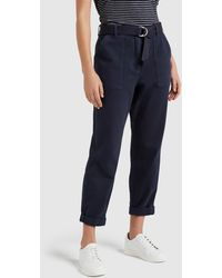 French Connection Utility Belted Trousers - Blue