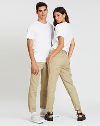 Dickies 872 Slim Straight Tapered Fit Trousers - Natural