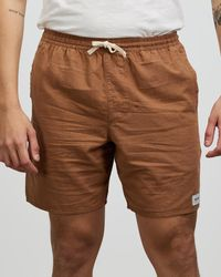 Rhythm The Iconic 10th Birthday Exclusive Essential Linen Jam Shorts - Brown