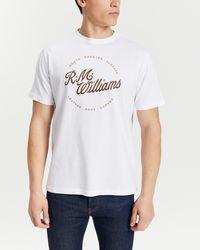 R.M.Williams Script Stamp T Shirt - White