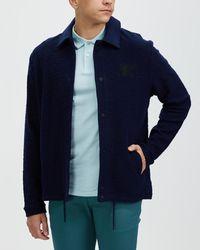 Ben Sherman Loopback Coach Jacket - Blue