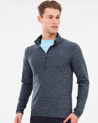 New Balance Core Space Dye Quarter Zip Sweatshirt - Grey