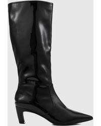 Nakedvice The Willow Patent Boot - Black