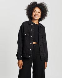 Cotton On Ultimate Oversized Denim Jacket - Black