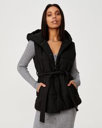 Cotton On Recycled Hooded Padded Vest - Black