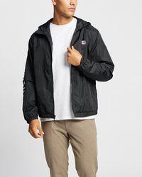 Brixton Claxton Alton Lw Zip Hood Jacket - Black
