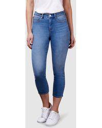 Jeanswest Kara Mid Waist Skinny Capri Light Vintage - Blue