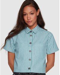 RVCA Jefferson Short Sleeve Shirt - Blue