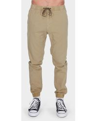 Billabong Addict Elastic Trousers - Natural