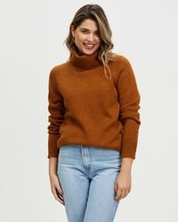 Atmos&Here Winnie Classic Turtle Neck - Brown