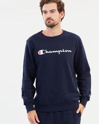 Champion Script Crew - Blue