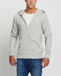 Bonds Essential Zip Through Hoodie - Grey