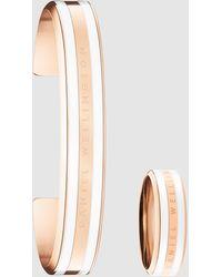 Daniel Wellington Classic Bracelet M + Ring Gift Set - Metallic