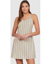 Roxy Saturday Morning Strappy Midi Dress - Multicolour