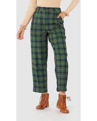 Princess Highway Claudia Check Trousers - Green