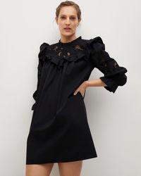 Mng Adelaida Dress - Black