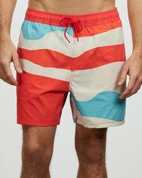 Brixton Voyage Shorts - Red