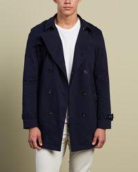 Justin Cassin Dean Buttoned Coat - Blue