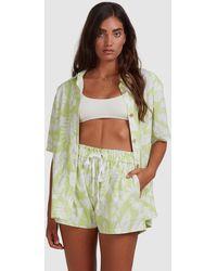 Billabong Summer Sun Button Thru Top - Green