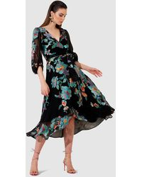 SACHA DRAKE Take Five Wrap Dress - Black