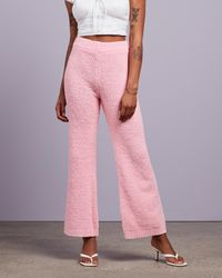 Missguided Popcorn Wide Leg Co Ord Trousers - Pink