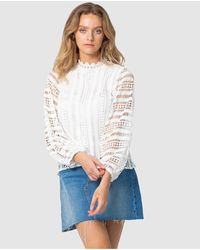 Three Of Something Queenie Lace Blouse - White