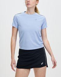 Asics Icon Short Sleeve Running Top - Blue