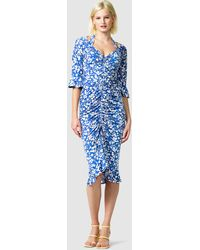 SACHA DRAKE Somerland Ruched Dress - Blue