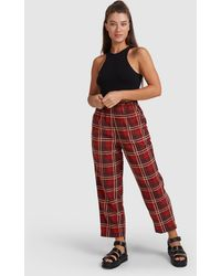 RVCA Matchstix Cord Pant - Red