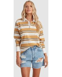 Billabong Double Up Rugby Long Sleeve - Multicolour