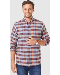 Gazman Brushed Twill Check Long Sleeve Shirt - Multicolour