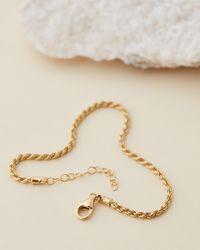 SAINT VALENTINE Valencia Fine Rope Chain Bracelet - Metallic