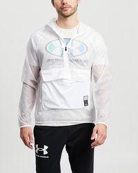 Under Armour Ua Run Anywhere Anorak Jacket - White