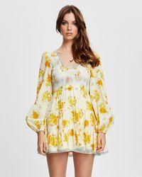 Alice McCALL Cinnamon Girl Mini Dress - Yellow