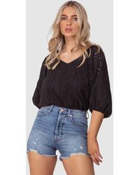 Three Of Something August Blouse - Black
