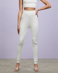 Missguided Co Ord Ribbed Leggings - Purple