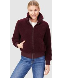 French Connection Sherpa Jacket - Red