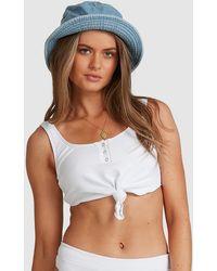 Billabong Sand Dunes Crop Tie Bikini Top - White