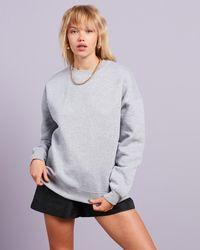 Missguided Basic Oversized Sweat - Grey