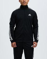 adidas Originals Primegreen Essentials 3 Stripes Track Suit - Black