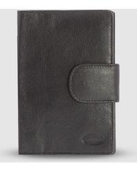 Cobb & Co Ivan Rfid Passport Leather Holder - Black