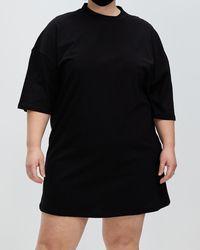 Missguided Curve Plus T Shirt Dress - Black