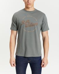 R.M.Williams Script Stamp T Shirt - Grey